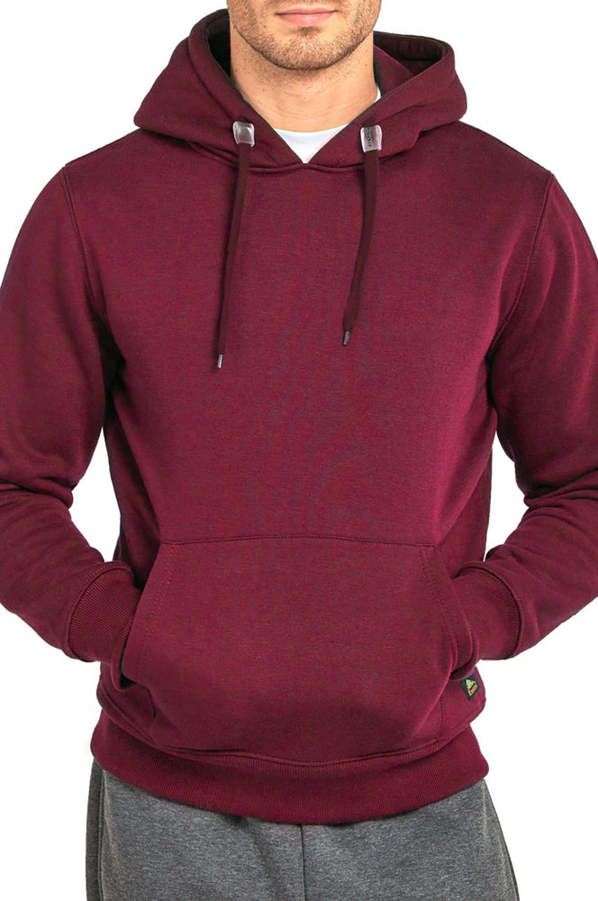 Load image into Gallery viewer, KNOCKER MEN'S HEAVY WEIGHT HOODED SWEATSHIRT (HD1000_BURGUNDY)
