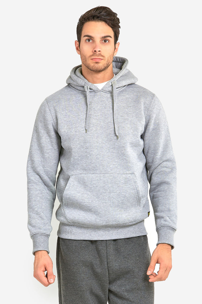 KNOCKER MEN'S HEAVY WEIGHT HOODED SWEATSHIRT (HD1000_H.GRY)