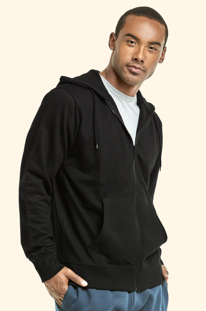 Load image into Gallery viewer, TOP PRO MEN'S TERRY HOODIE JACKET (HD4000_BLACK)