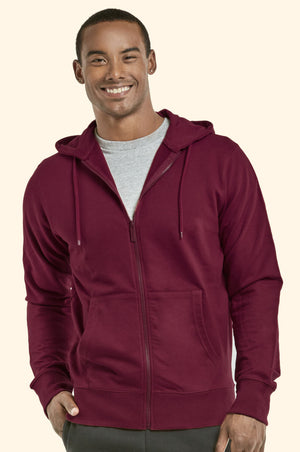 TOP PRO MEN'S TERRY HOODIE JACKET (HD4000_BURG)