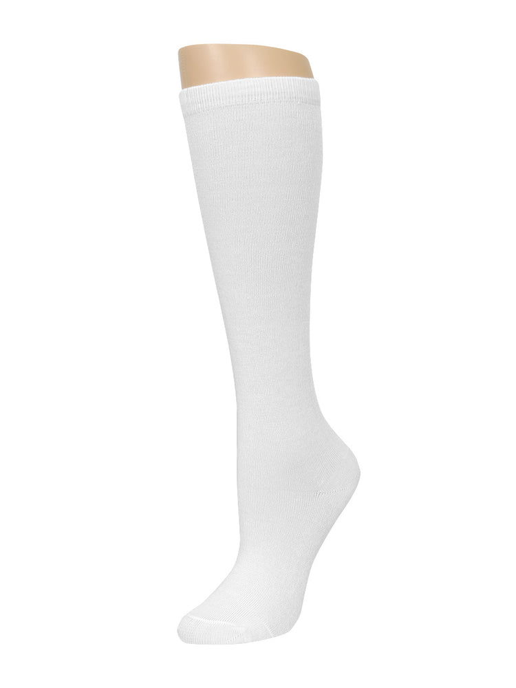 MAMIA GIRL'S KNEE HIGH SOCKS (KHS001_WHITE)