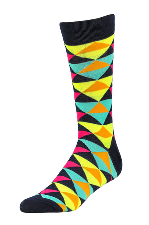 Load image into Gallery viewer, LIBERO MEN'S CASUAL CREW SOCKS (LBC100_2-GEOTR)