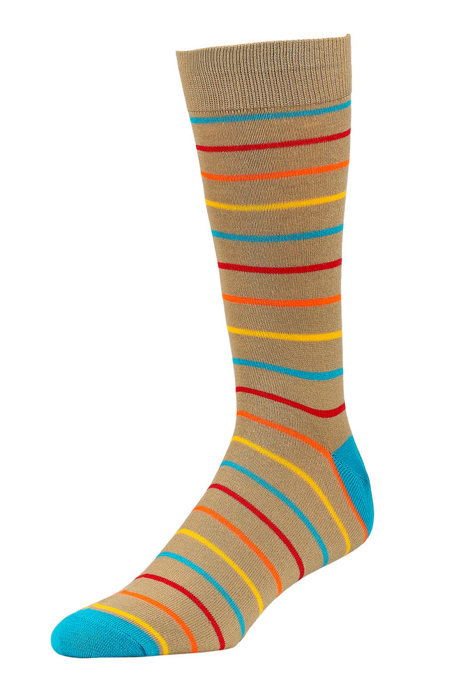 Load image into Gallery viewer, LIBERO MEN'S CASUAL CREW SOCKS (LBC100_9-STRP)