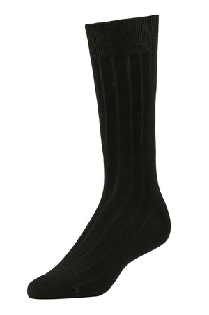 LIBERO MEN'S DRESS CREW SOCKS (LBC200_1-BLACK)