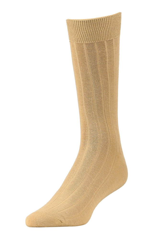 LIBERO MEN'S DRESS CREW SOCKS (LBC200_1-KHAKI)