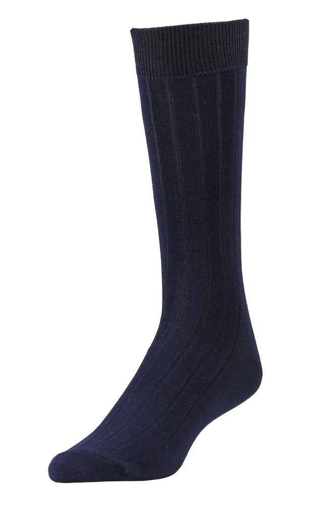 LIBERO MEN'S DRESS CREW SOCKS (LBC200_2-BLACK)