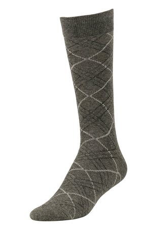 Load image into Gallery viewer, LIBERO MEN'S DRESS CREW SOCKS (LBC200_5-CHAR)