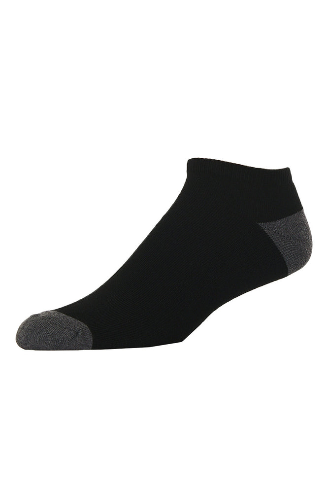 LIBERO MEN'S NO SHOW SOCKS (LBN100_B-BLK)