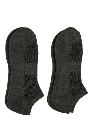 LIBERO MEN'S NO SHOW SOCKS (LBN100_C-GREY)