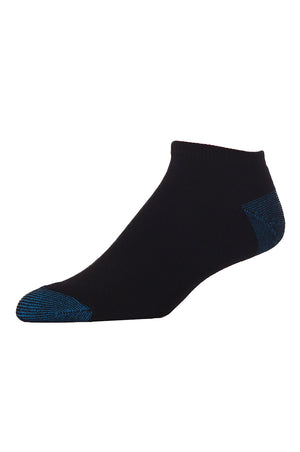 LIBERO MEN'S NO SHOW SOCKS (LBN100_L-BLK)