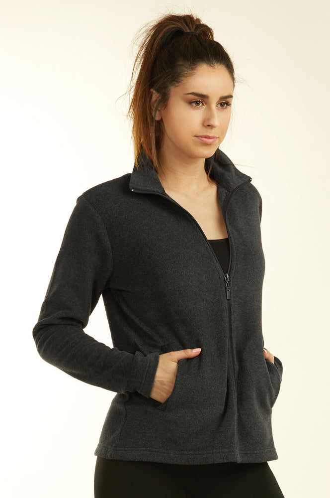 Load image into Gallery viewer, SOFRA LADIES POLAR FLEECE JACKET (LPF200_CHARCOAL_3PCS)