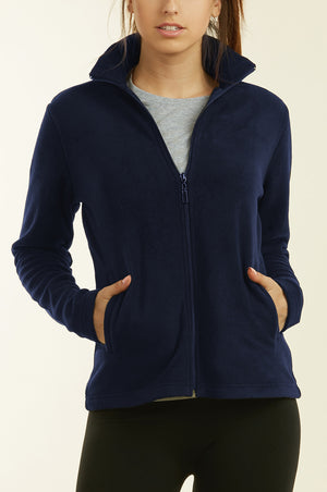 SOFRA LADIES POLAR FLEECE JACKET (LPF200_NVY_3PCS)
