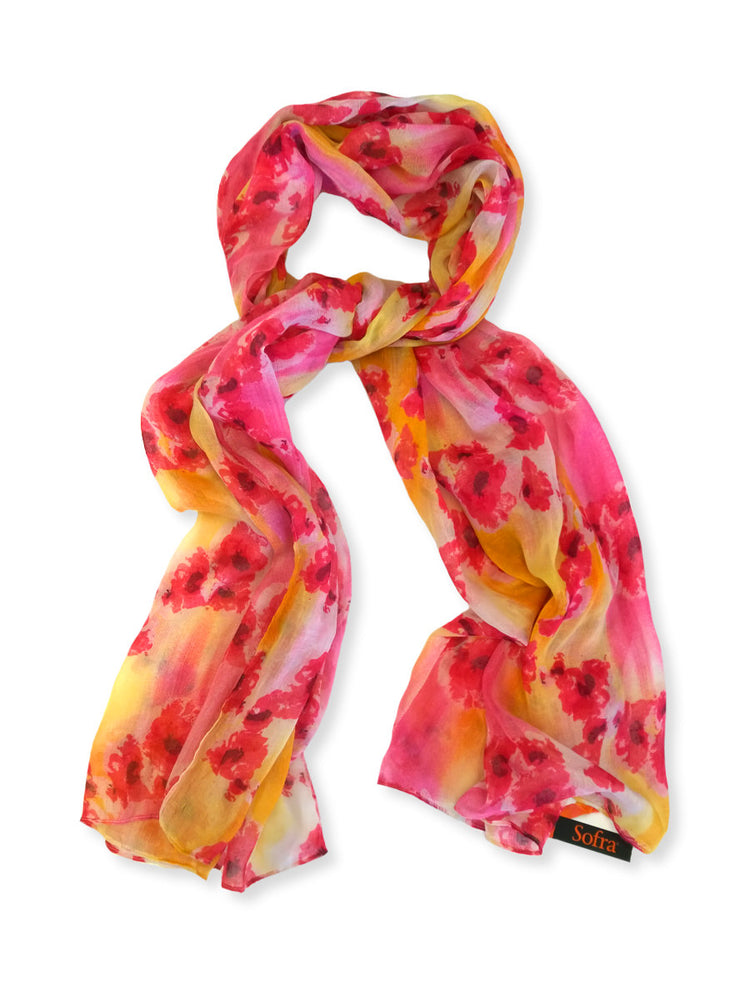 SOFRA LIGHTWEIGHT FLAT SCARF (LS002_POPPIES)