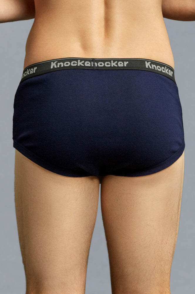 KNOCKER MEN'S COLOR BAND BRIEFS (MCB3500)