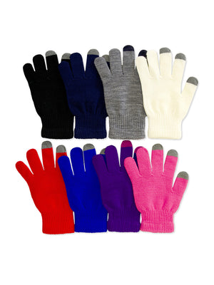 MOPAS LADIES TOUCH SCREEN MAGIC GLOVES (MG300_L-ASST)