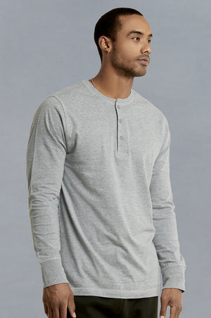 Load image into Gallery viewer, KNOCKER MEN'S HENLEY SHIRT (MHS001_H.GRY)