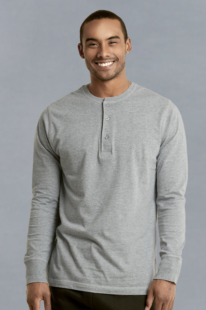 KNOCKER MEN'S HENLEY SHIRT (MHS001_H.GRY)