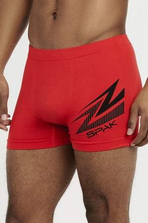 SPAK MEN'S SEAMLESS BOXER BRIEFS (MSP016)