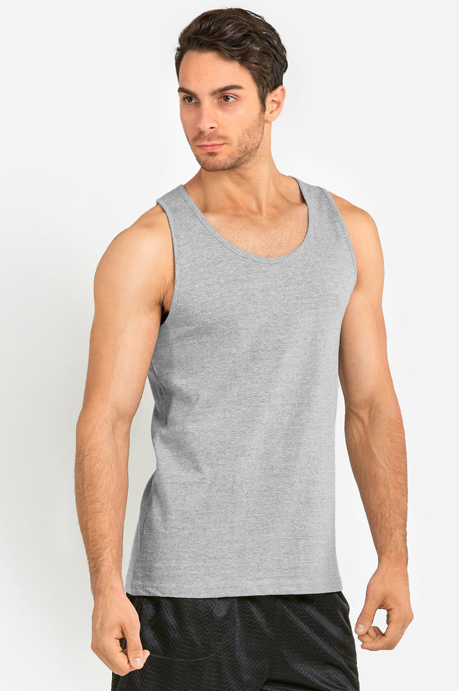 Load image into Gallery viewer, KNOCKER MEN'S HEAVY TANK TOP (MT200_H.GRY)