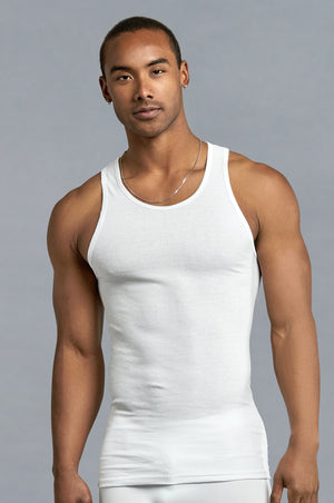Load image into Gallery viewer, POWER CLUB MEN'S WHITE A-SHIRTS (PCW001)