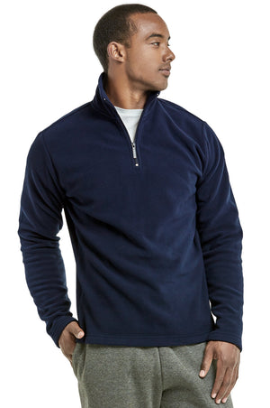 KNOCKER MEN'S POLAR FLEECE QUARTER PULLOVER (PF1000_NAVY)