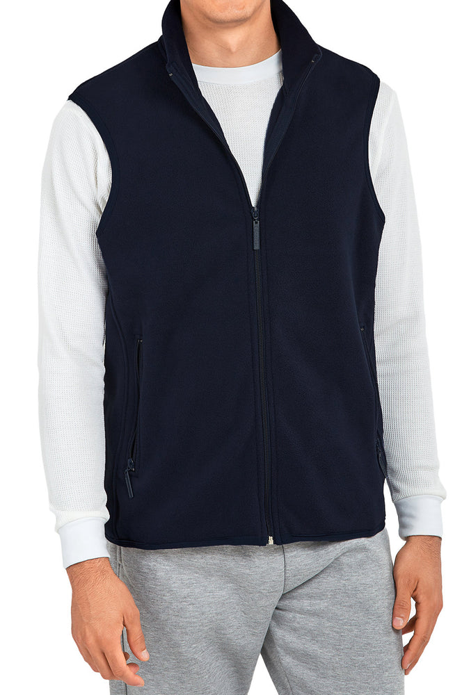 KNOCKER MEN'S POLAR FLEECE VEST (PF1500_NAVY)