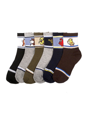 Load image into Gallery viewer, PODE BOY'S DESIGN CREW SOCKS (ANIMALS)