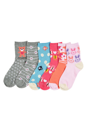MOPAS GIRL'S DESIGN CREW SOCKS (ZOO)