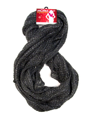 MOPAS LADIES WINTER KNIT INFINITY SCARF (PS300)