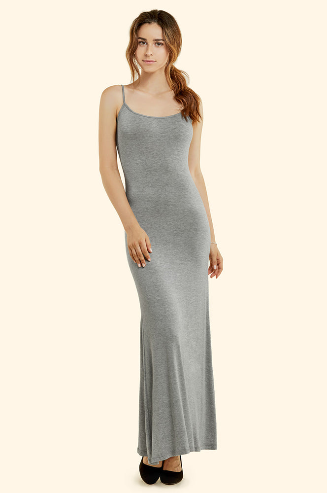 Load image into Gallery viewer, SOFRA LADIES SPAGHETTI STRAP MAXI DRESS (RD003)
