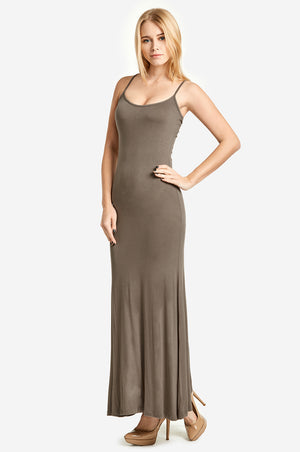 SOFRA LADIES SPAGHETTI STRAP MAXI DRESS (RD003)