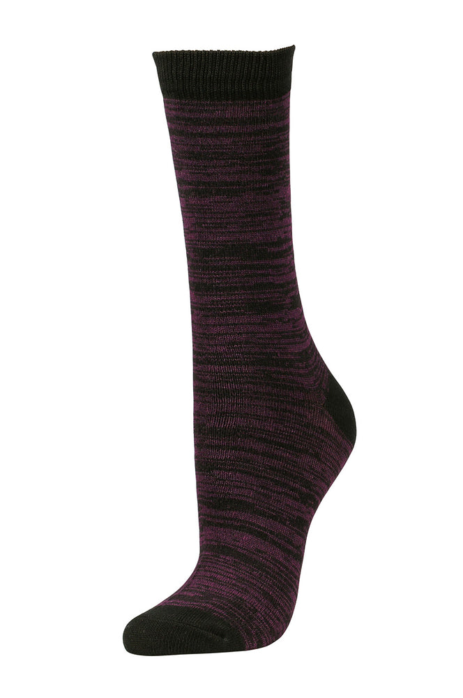 Load image into Gallery viewer, SOFRA WOMEN'S CREW SOCKS (SFC100_BK/PR)