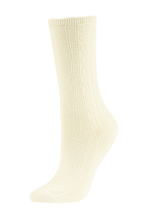 SOFRA WOMEN'S CREW SOCKS (SFC100_IVYCST)