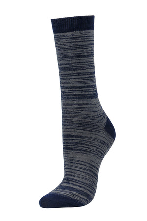 Load image into Gallery viewer, SOFRA WOMEN'S CREW SOCKS (SFC100_NV/GR)