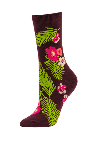 Load image into Gallery viewer, SOFRA WOMEN'S CREW SOCKS (SFC100_WINEFRL)