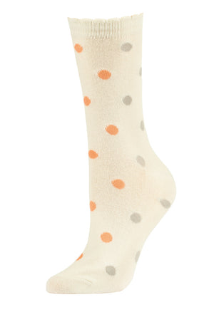 SOFRA WOMEN'S COTTON CREW SOCKS (SFC200_2-IVY)