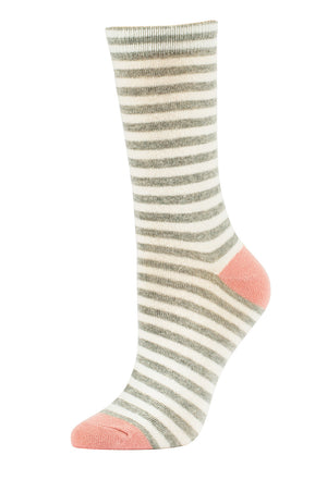 SOFRA WOMEN'S COTTON CREW SOCKS (SFC200_3-LHG)