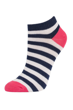SOFRA WOMEN'S COTTON NO SHOW SOCKS (SFN200_S-NVCO)