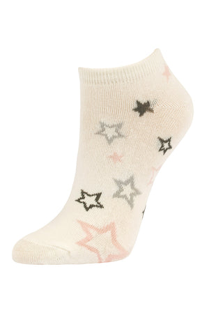SOFRA WOMEN'S COTTON NO SHOW SOCKS (SFN200_U-IVORY)
