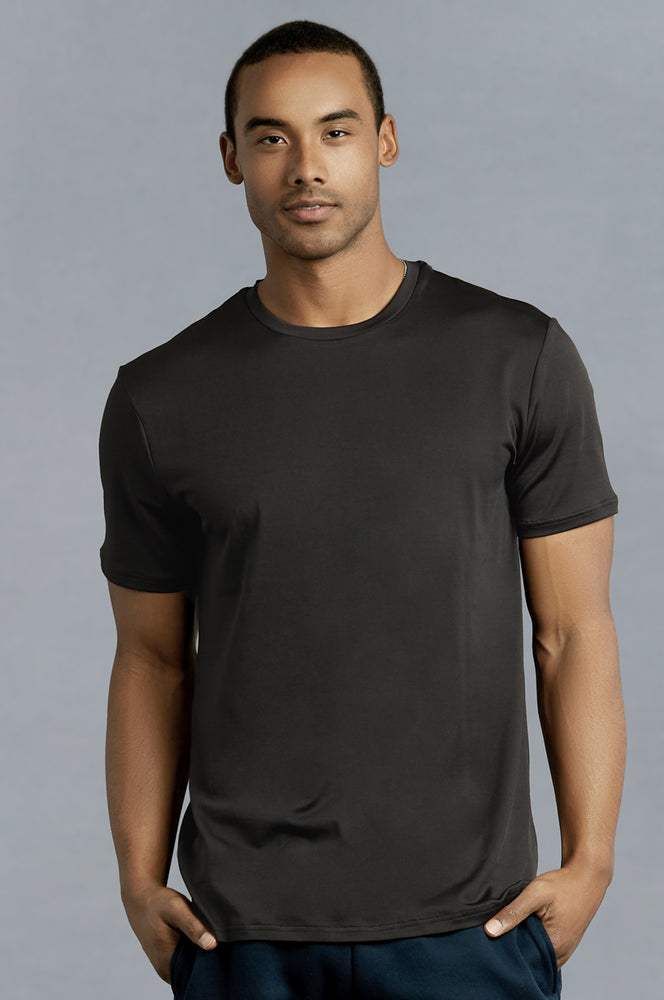 TOP PRO MEN'S ATHLETIC ROUNDNECK T-SHIRT (TAT310_D.GRY)