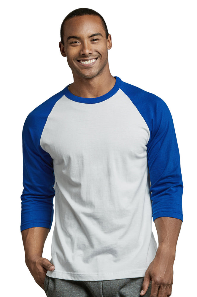 Load image into Gallery viewer, TOP PRO MEN'S 3/4 SLEEVE BASEBALL TEE (MBT001_RBL/WHT)