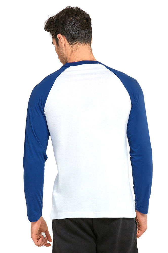 TOP PRO MEN'S LONG SLEEVE BASEBALL TEE (MBT002_RBL/WHT)