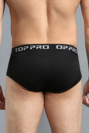 TOP PRO MEN'S CLASSIC BAND BRIEFS (TPUB300_BLACK)