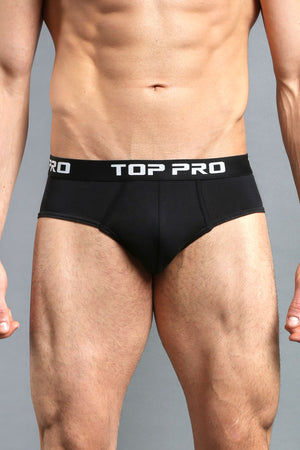 TOP PRO MEN'S STRETCH BIKINI BRIEFS (TUB400_BLACK)