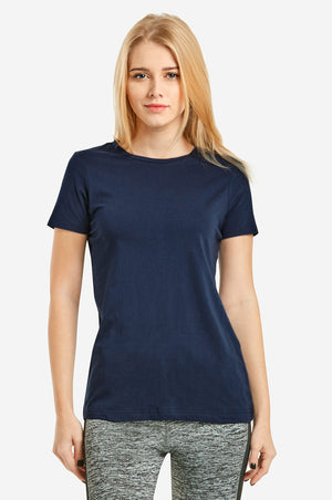 SOFRA LADIES CLASSIC FIT CREW NECK T-SHIRT (TR021)