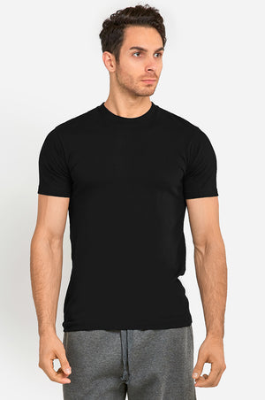Load image into Gallery viewer, KNOCKER MEN'S HEAVY CREW NECK T-SHIRT (TR800_BLACK)