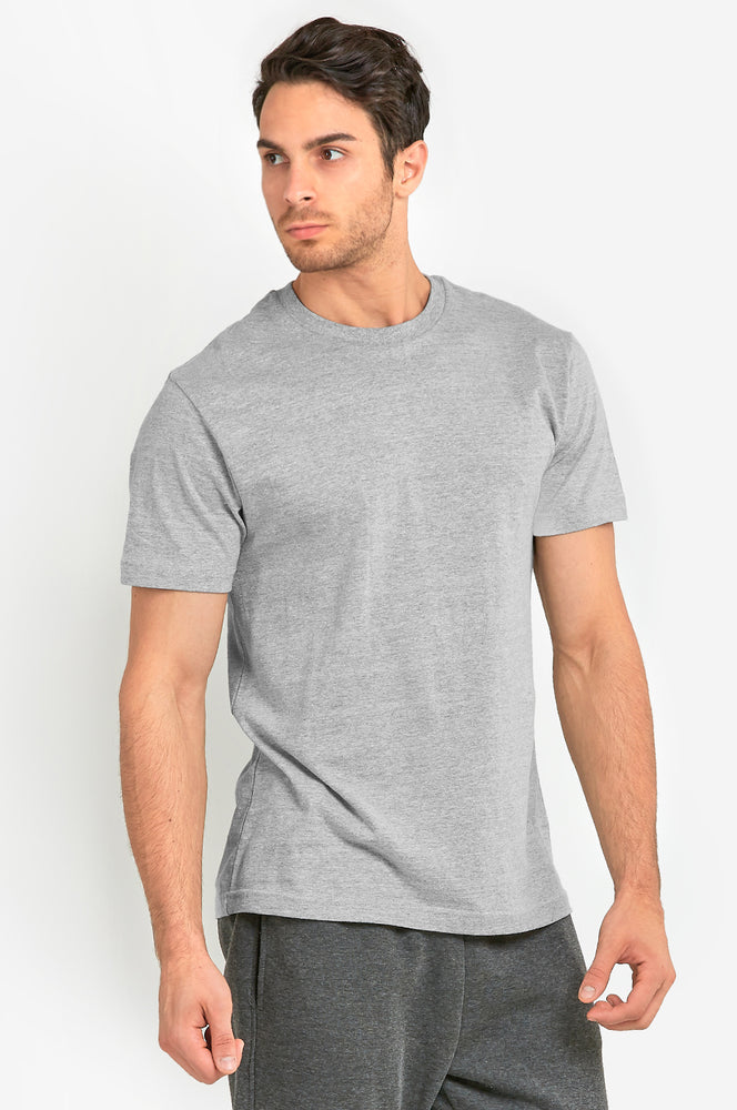 KNOCKER MEN'S HEAVY CREW NECK T-SHIRT (TR800_H.GRY)