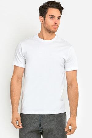 KNOCKER MEN'S HEAVY CREW NECK T-SHIRT (TR800_WHITE)