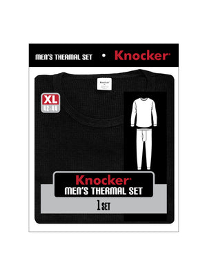 KNOCKER MEN'S THERMAL UNDERWEAR (TU001_BLACK)