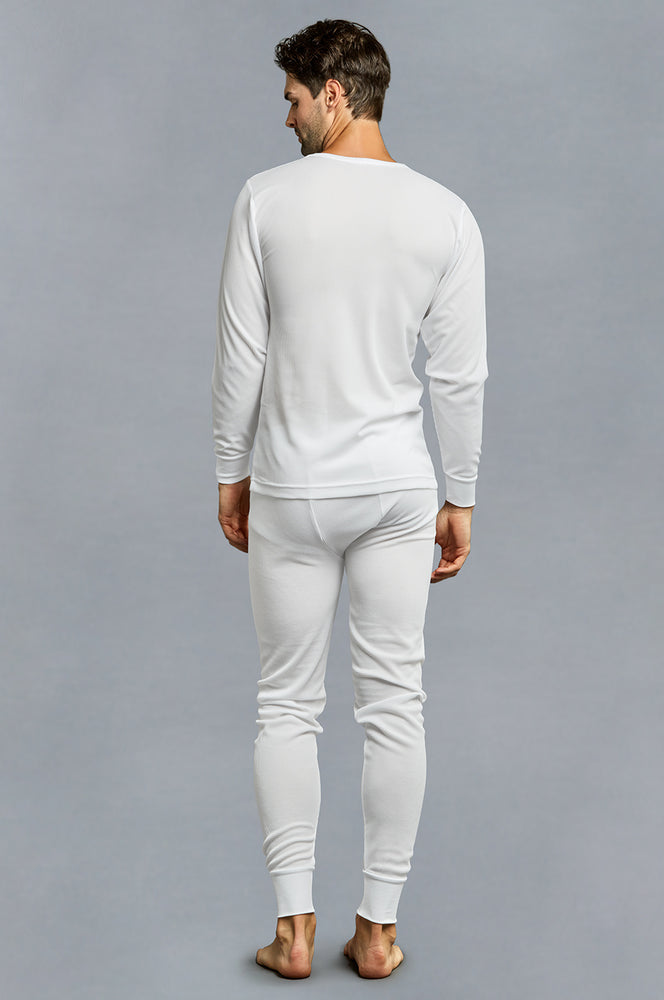 KNOCKER MEN'S THERMAL UNDERWEAR (TU001_WHITE)